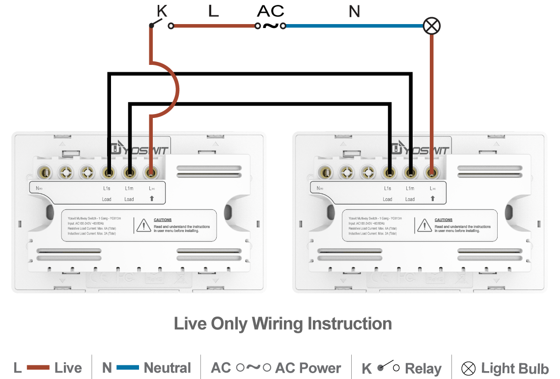 smart 3-way switch - socket 118 - 1 gang
