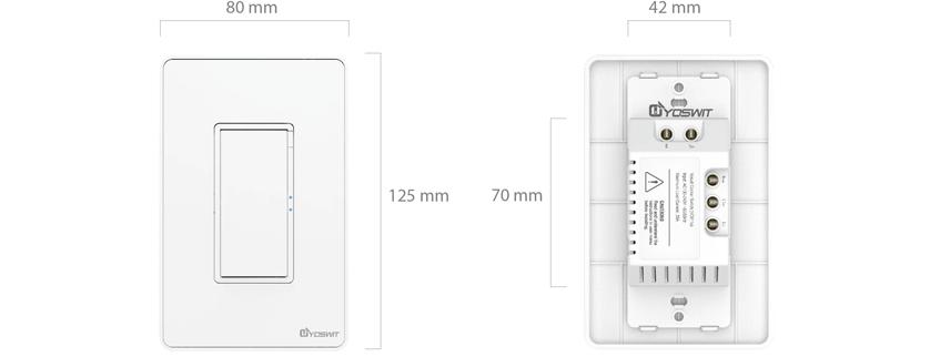 smart 3-way switch - socket 120 - 1 gang - smart home